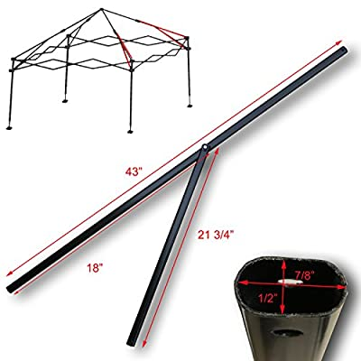 "Ozark Trail, First UP, ABBA Instant 10' x 10' Straight Leg Canopy Gazebo 2 PEAK TRUSS BARS 43"" Replacement Parts"