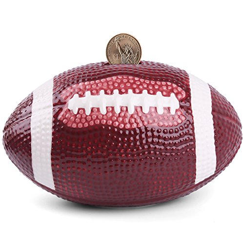 Piggy Bank Ceramic Football Coin Bank-(4 designs for choice Golf/ Basketball/Soccer/Football/) 7.5