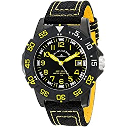 Zeno Men's 6709-515Q-A19 Divers Analog Display Quartz Black Watch