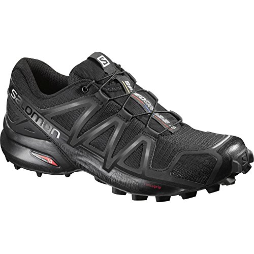 Salomon Women's Speedcross 4 W Trail Runner Black Metallic, 8 B(M) US