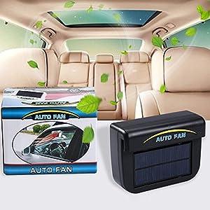 0.8W Solar Powered Car Auto Cooler Ventilation Fan Automobile Air Vent Exhaust Heat Fan with Rubber Strip