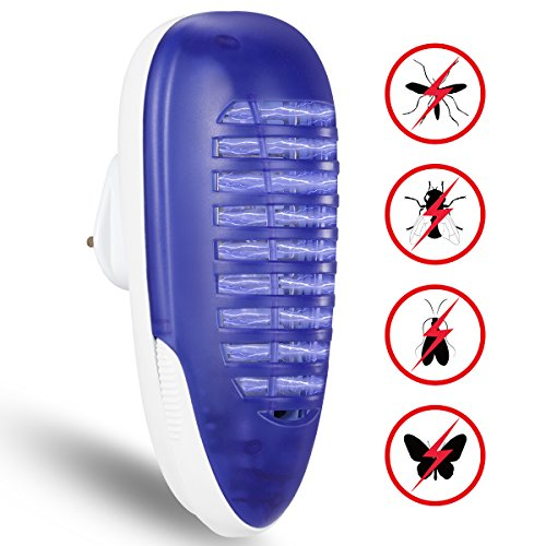YUNLIGHTS Bug Zapper Light, Electric Fly Killer, 4W Plug in Indoor Mosquito...