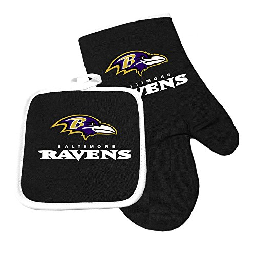Baltimore Ravens Gloves - Pro Specialties Group Baltimore Ravens Sports Team Logo Oven Mitt and Pot Holder