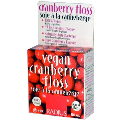 Radius Vegan Antibacterial Cranberry Floss 1