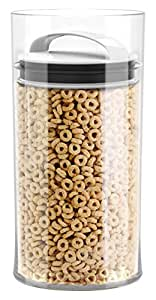 Evak Fresh Airless Storage Canister, Patented & Designed in USA, Large/Tall (128 Ounce, 16 Cup Capacity)