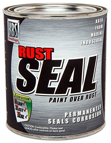 KBS Coatings 4402 RustSeal Satin Black Quart, 32. Fluid_Ounces