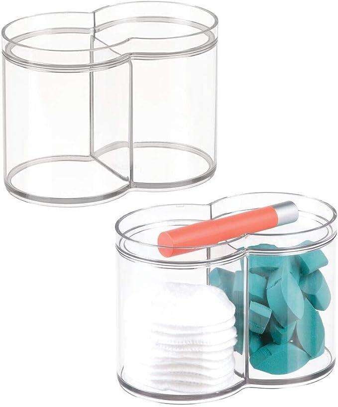 mDesign Juego de 2 Cajas organizadoras de plástico – Caja de ...
