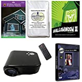 Christmas and Halloween Digital Decoration Kit includes 800 x 480 Resolution Projector, Hollusion + Reaper Bros Rear Projection Screens, Santa in Window and Hallowindow 3 on DVD's