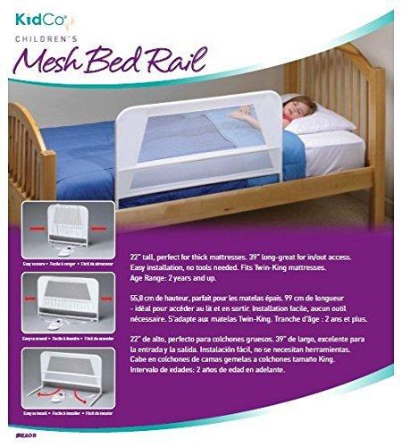 Amazon KidCo Childrens Mesh Bed Rail White Baby