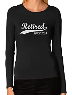 baac6664 TeeStars - Retired Since 2018 - Retirement Gift Idea Women Long Sleeve T- Shirt