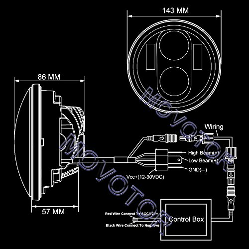 chic movotor 5 3 4'' harley davidson sportster daymaker 5 75inch led headlight wiring harness diagram chic movotor 5 3 4'' harley davidson sportster daymaker 5 75inch led headlight