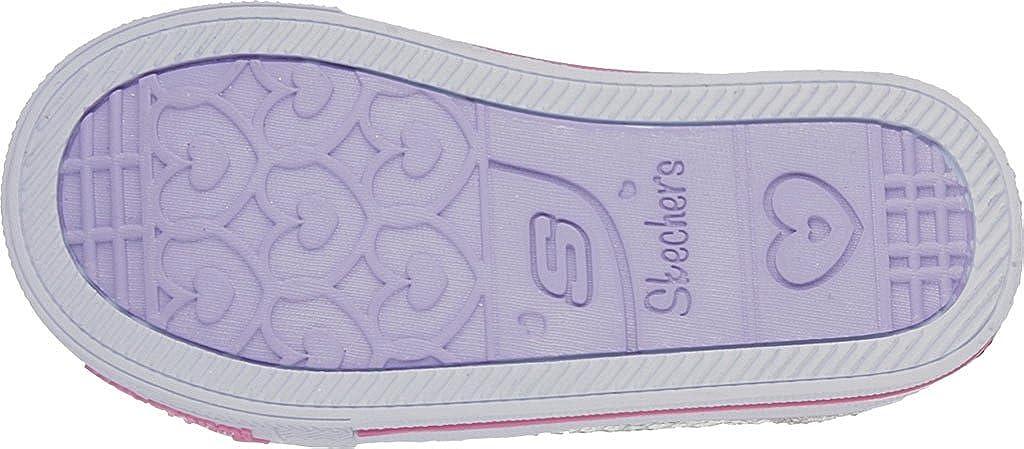 Skechers Kids10764 - Itsy Bitsy Unisex-Kinder Silver/Hot Pink
