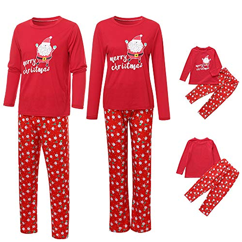 kaiCran Family Pajamas Matching Clothes Merry Christmas 2Pcs Pjs Outfits Sets (Red, Mom L)