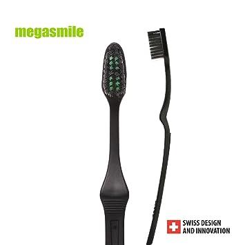 Pack de 2 suaves cepillos de dientes blanqueantes Megasmile SOFT: Amazon.es: Salud y cuidado personal