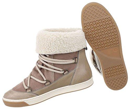 Damen Schuhe Stiefeletten Boots Hellbraun