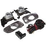 Spec-D Tuning LF-CV923OEM Honda Civic 3 Dr Clear Oem Style Fog Lighs, Switch, Relay