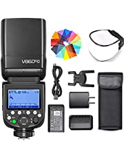 Godox V860III-C Flash for Canon Camera Flash Speedlite 7.2V/2600mAh, 2.4G Wireless HSS 1/8000 1.5s Recycle Time 10 Levels LED Modeling Light for Canon 6D 50D 60D 1DX 580EX II 5D Mark II III, etc