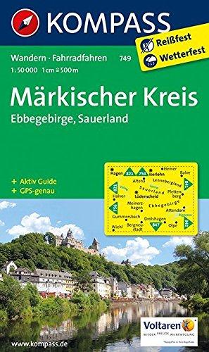 Märkischer Kreis - Ebbegebirge - Sauerland: Wanderkarte mit Aktiv Guide und Radrouten. GPS-genau. 1:50000 (KOMPASS-Wanderkarten, Band 749)