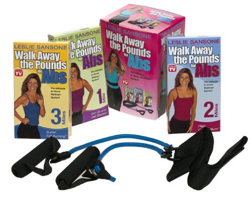 Leslie Sansone - Walk Away The Pounds For Abs w/belt (3 Pack) [VHS]