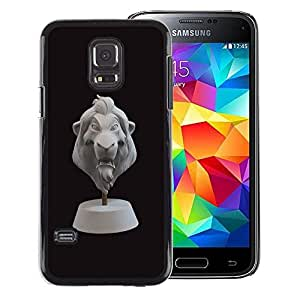 Red-Dwarf Colour Printing Lion 3D Cgi Character Bust Black Animal - cáscara Funda Case Caso de plástico para Samsung Galaxy S5 Mini, SM-G800, NOT S5 REGULAR!