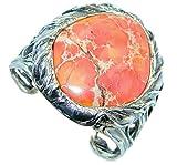Sea Sediment Jasper Women 925 Sterling Silver Bracelet - FREE GIFT BOX