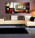 ARTLAND Modern 100% Hand Painted Abstract Oil Painting on Canvas
