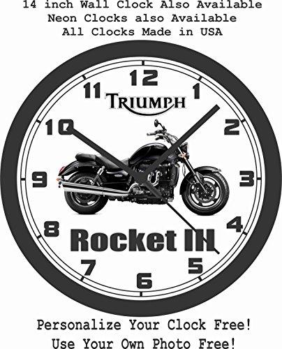 2016 TRIUMPH ROCKET III ROADSTER WALL CLOCK-FREE USA SHIP!