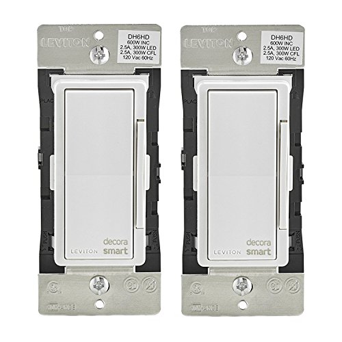 Leviton DH6HD-1BZ 600W Decora Smart Dimmer, Works with Apple HomeKit (2 Pack)