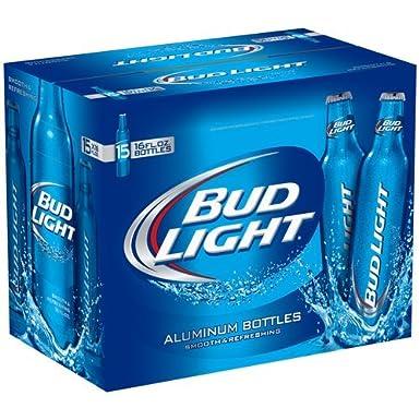Bud Light 16oz (473mL Aluminum Bottle)   15 Pack