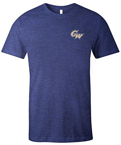 Image One NCAA George Washington Colonials Simple Mascot Short Sleeve Triblend T-Shirt, (George Washington Colonials Baseball)