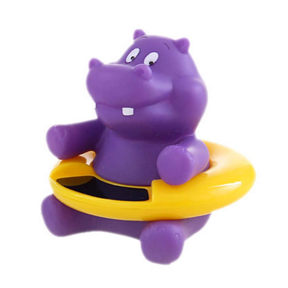YaptheS Baby Infant Bath Tub Water Temperature Tester Toy Animal Shape Thermometer 9.5 * 8.5cm (purple hippo) 1pc Caring for your child