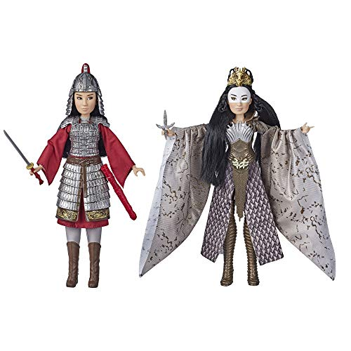 Disney Mulan and Xianniang Dolls with Helmet, Armor, and Sword, Inspired by Disney