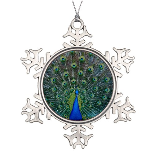 Humories Male Peacock Ideas For Decorating Christmas Trees Peacock Pictures Photo Frame Snowflake Ornaments (Ideas Christmas Peacock Decorating)