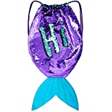 GirlZone: Magical Mermaid Tail Sequin Backpack for Girls: more info