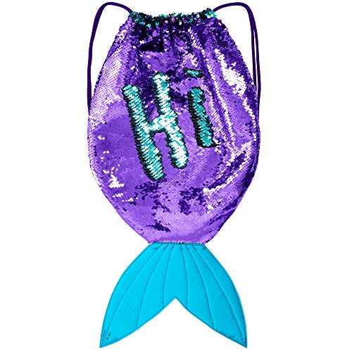 GirlZone: Magical Mermaid Tail Sequin Backpack for Girls, Gift For Girls (Barbie In A Mermaid Tale 2 Kylie Morgan)