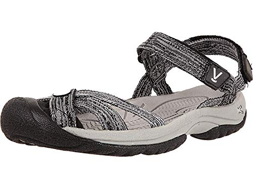 KEEN Women's Bali Strap Sandal, Neutral Gray/Black, 8 M US