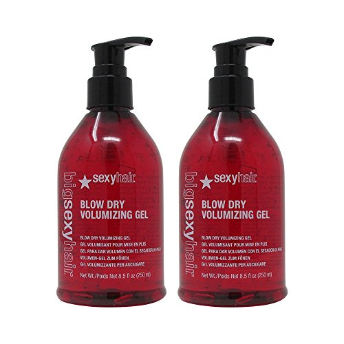 Bundle - 2 Items : Sexy Hair Big Sexy Blow Dry Volume Gel, 8.5 Oz Bottle (Pack of 2) (Sexy Conditioner Volumizing)