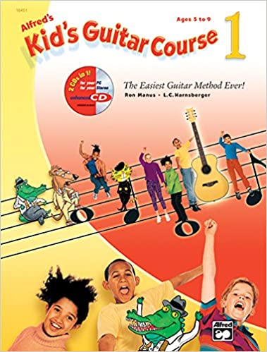 alfreds kids guitar course 1 the easiest guitar method ever book enhanced cd dvd