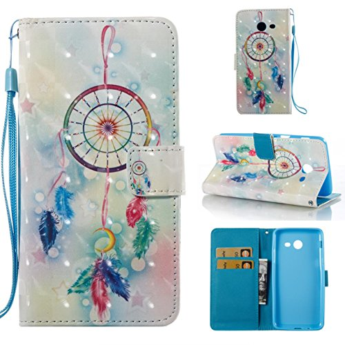 Galaxy J7 V Case / Galaxy J7 Perx Case / Galaxy J7 Sky Pro / J7 Prime / Galaxy Halo / J7 2017 Case, Durable PU Leather Wallet Cover Lightweight Full Protective Case-dream catcher