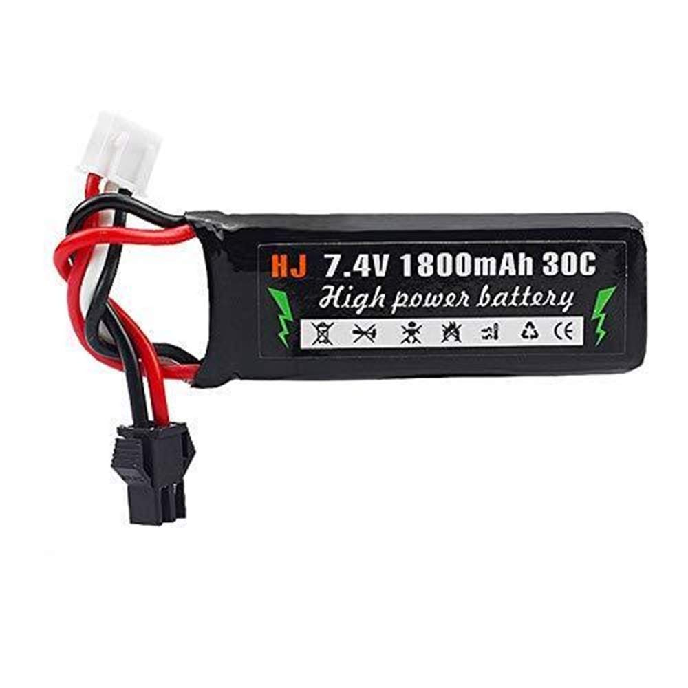 AirSoft 7.4V 1800mAh 30C Lipo Battery for Electric Water Pistol Toy Gun