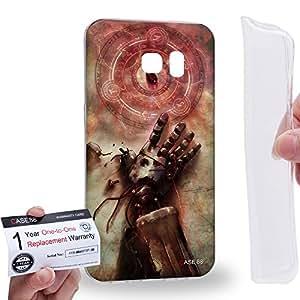 Case88 [Samsung Galaxy S7 Edge] Gel TPU Carcasa/Funda & Tarjeta de garantía - Fullmetal Alchemist Brotherhood Stone of the philosophers 0660