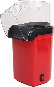 Popcorn popper maker, Hot Air Popcorn machine-1200W, Oil-Free,FDA Certified, Red