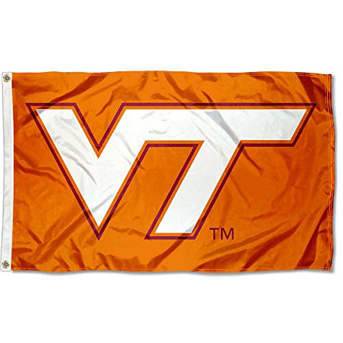 (College Flags and Banners Co. Virginia Tech Hokies Burnt Orange Flag)