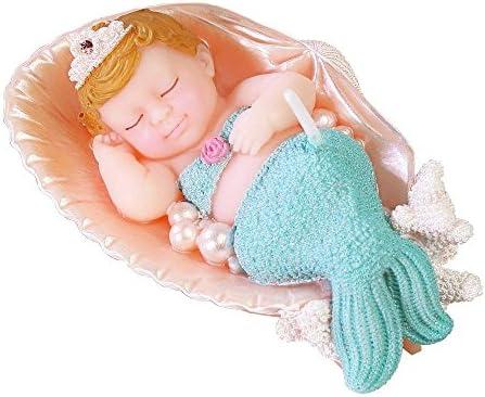 ILIKEPAR Vela de cumpleaños con diseño de Sirena para ...