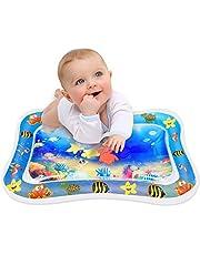 Aufblasbare Wassermatte Baby, Keten Bauch Zeit Auslaufsicheres PVC Wassergefüllte Spielmatte für Kinder und Kleinkinder, Spaßaktivitäten Spielcenter Das Stimulationswachstum Ihres Babys (26'' x 20'')