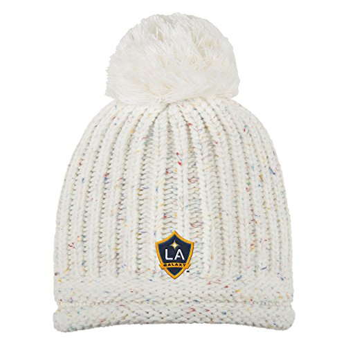 adidas MLS Los Angeles Galaxy Adult Women Fashion Yarn Cuffless Knit, One Size, Beige