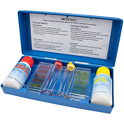 SplashTech 2-Way Pool Water Testing Kit (Chlorine & Ph) with Carry Case