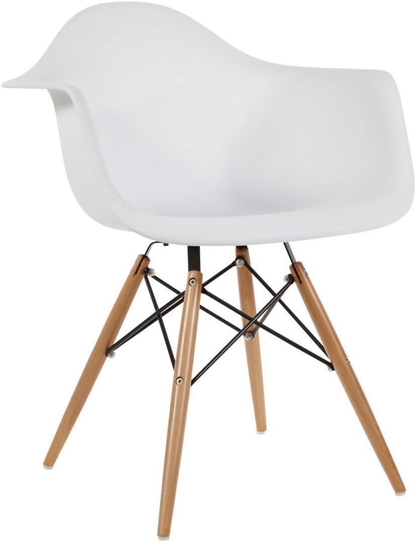 AHOC Modern White DSW Charles & Ray Eames Style Eiffel Chair