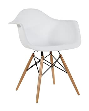 AHOC Modern White DSW Charles U0026 Ray Eames Style Eiffel Chair Furniture  Retro Dining Lounge Chairs
