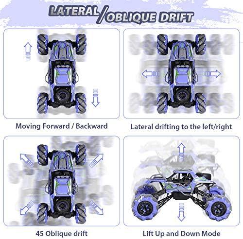 Theefun Auto RC Auto Acrobatica, 4WD 2.4Ghz Auto telecomandata Fuoristrada Camion RC, 360 ° off Alta velocità Drift Acrobazia Arrampicata Auto Giocattolo per Bambini e per Adulti